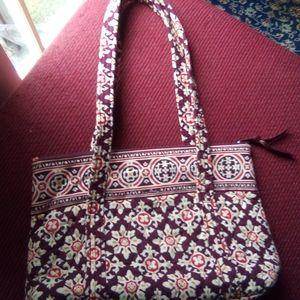 Vera Bradley pink/brown fabric floral bag